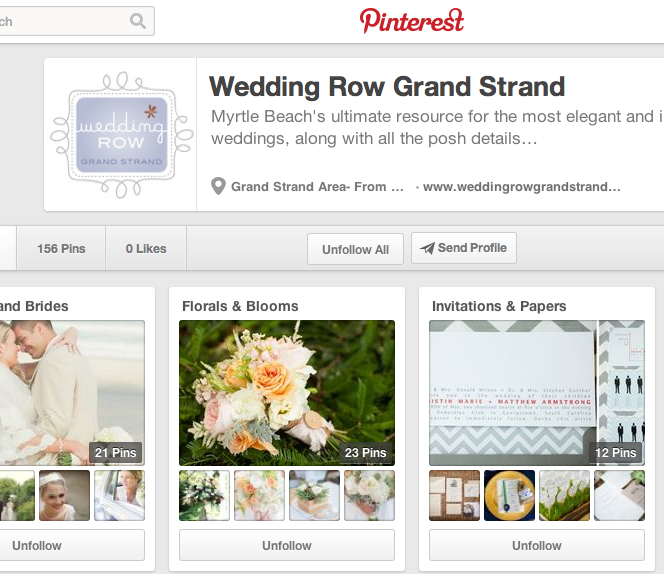 Post image for Pinterest {Wedding Row Grand Strand}